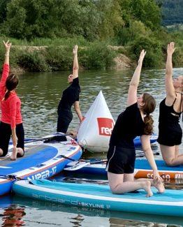 mietSUP - SUP-Yoga am Sander Baggersee mit Stefanie Merkl